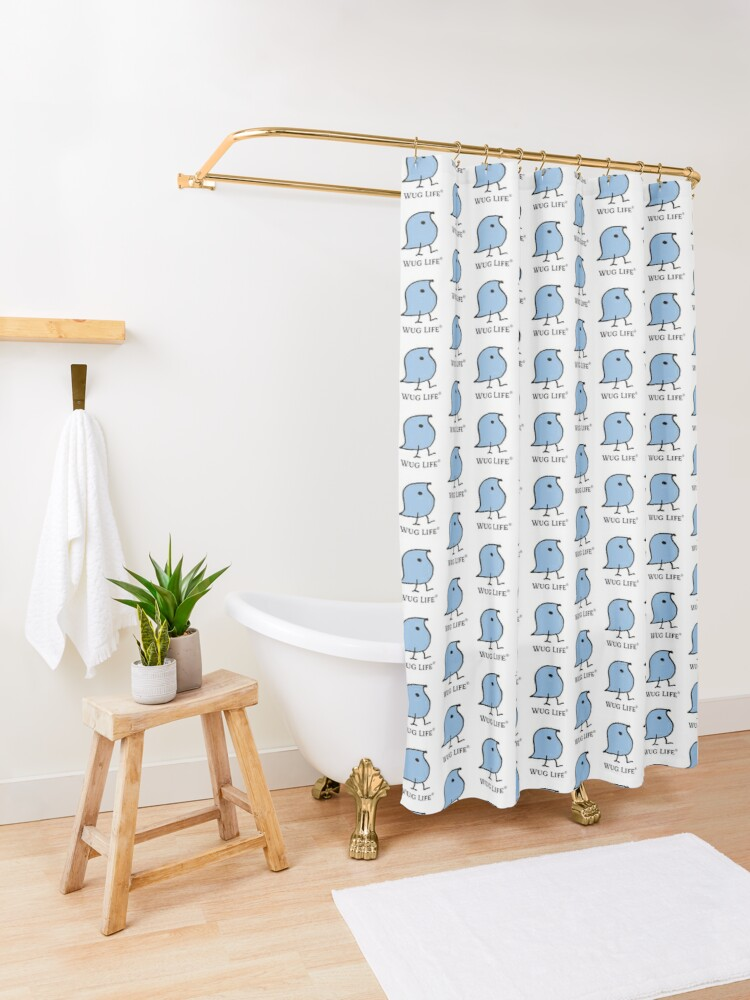 Alternate view of Wug Life Shower Curtain