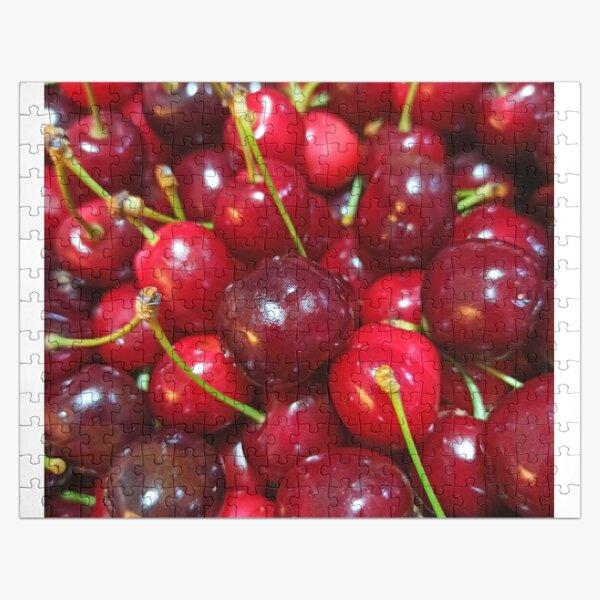 Delicious, fresh ,cretan cherries Jigsaw Puzzle