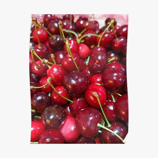 Delicious, fresh ,cretan cherries Poster