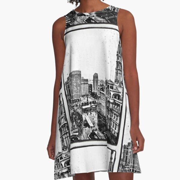 Rainy Philadelphia Day A-Line Dress
