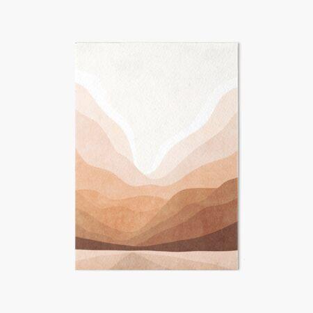 Warm mountain landscape Art Board Print