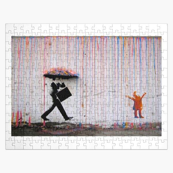 Banksy Parapluie Rainbow Happy Girl Puzzle