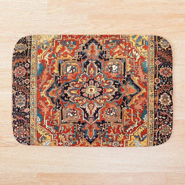 Heriz Persian Carpet Print Bath Mat
