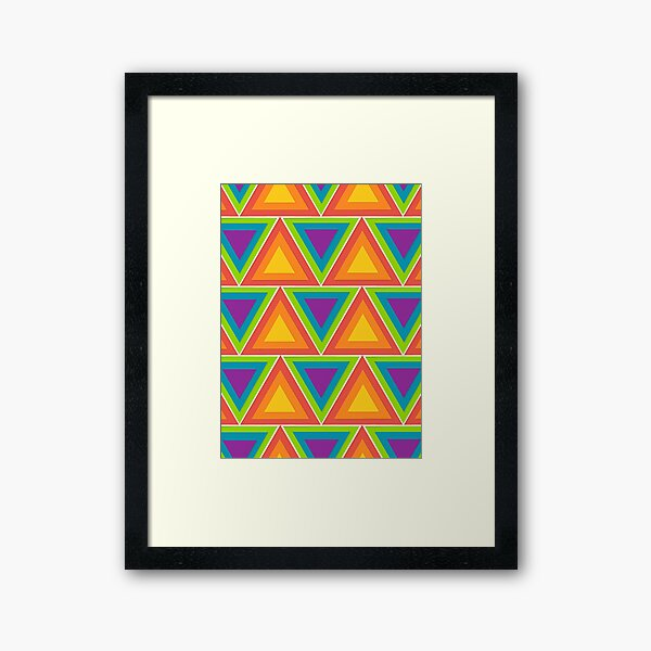 Rainbow Triangles Framed Art Print