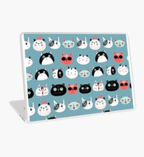 pattern amusing portraits of cats Laptop Skin