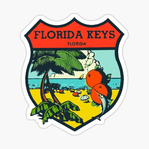 Vintage Florida Keys Decal Sticker