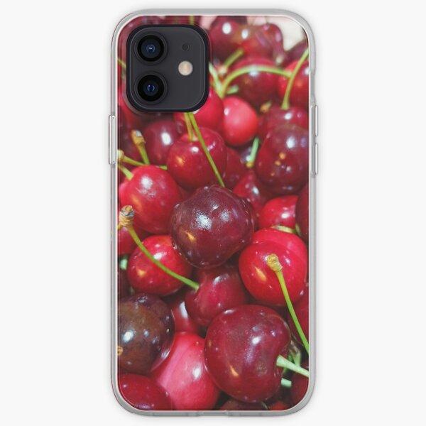 Delicious, fresh ,cretan cherries iPhone Soft Case