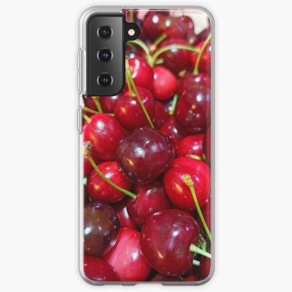 Delicious, fresh ,cretan cherries Samsung Galaxy Soft Case