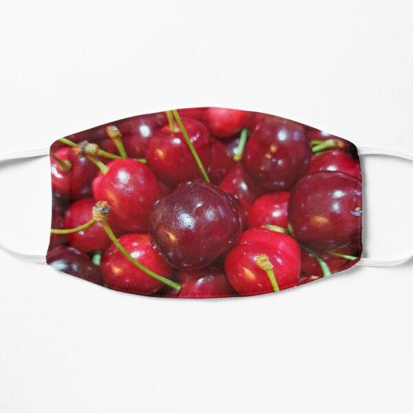 Delicious, fresh ,cretan cherries Flat Mask