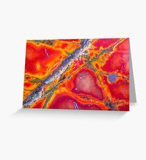 Triangulate (Cherry Creek Jasper) Greeting Card