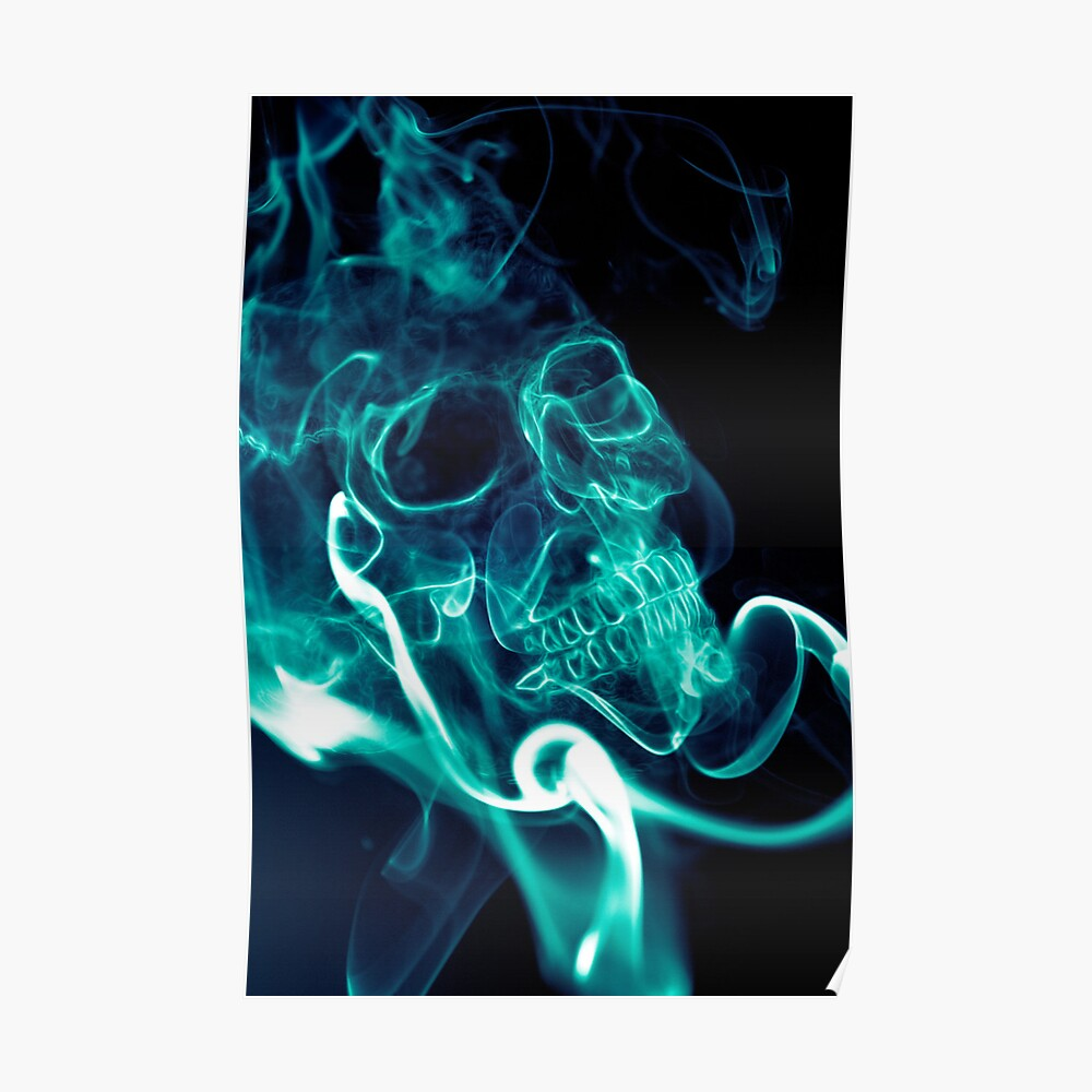 Quot Smoke Skull Quot Poster By Juusohd Redbubble