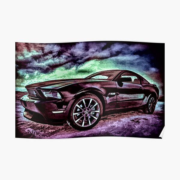 Ford Mustang Table Poster