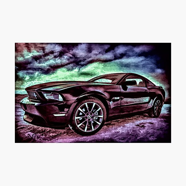 Ford Mustang Table Photographic Print