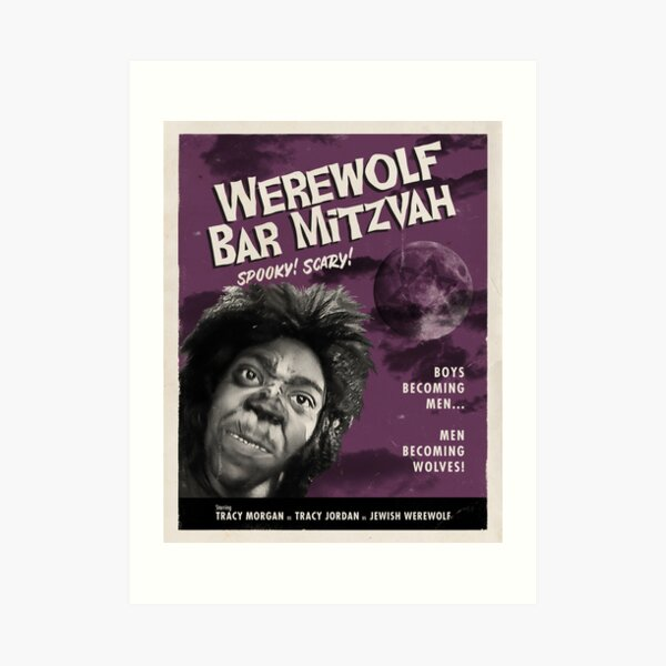 Werewolf Bar Mitzvah Spooky Scary Art Print