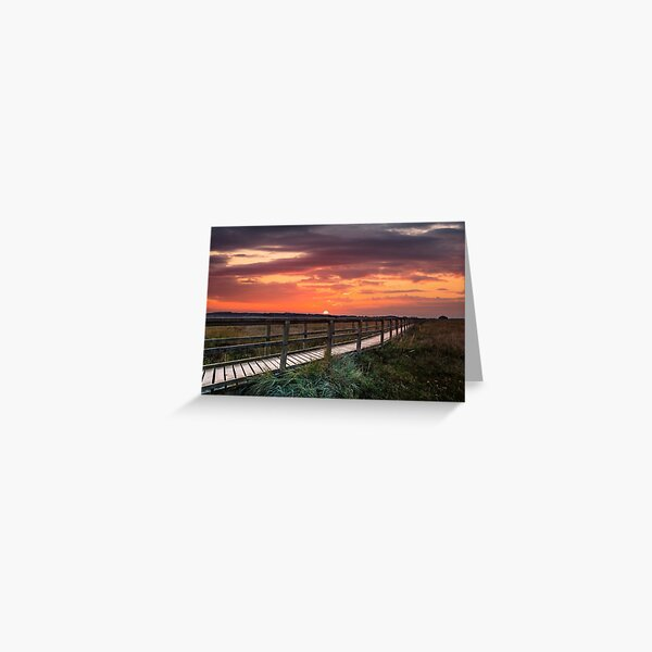 Sunset At Newtown Isle Of Wight Greeting Card