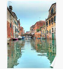 Venetian canal scene Poster