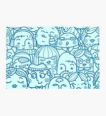 People in crowd pattern Photographic Print