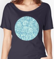 People in crowd pattern Women's Relaxed Fit T-Shirt