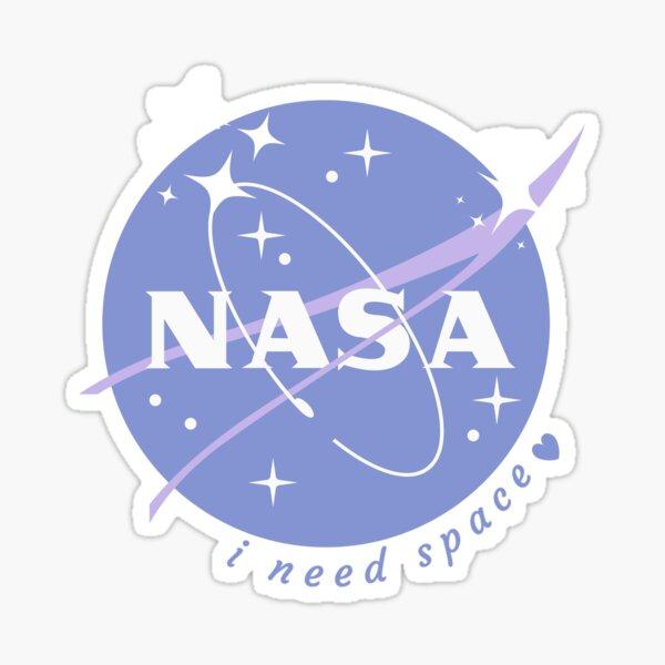 NASA - i need space (blue) Sticker