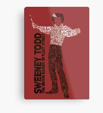 Sweeney Todd - Typography Metal Print