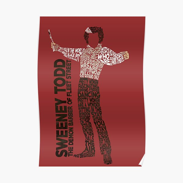 Sweeney Todd - Tipografía Póster