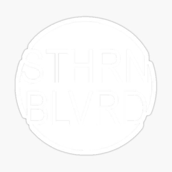 White STHRN BLVRD Logo Sticker