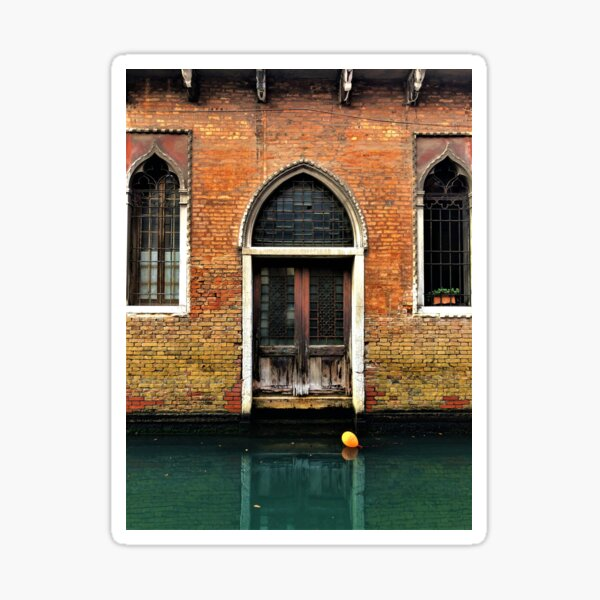 House entrance in Venice with balloon floating on water Sticker