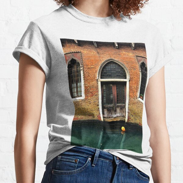 House entrance in Venice with balloon floating on water Classic T-Shirt