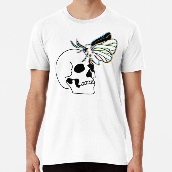 Glitching moth on a skull Premium T-Shirt