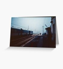 Off to change the points for the night train Greccio 19840408 0044  Greeting Card