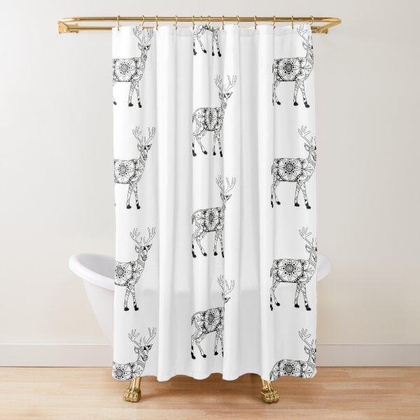 Stag Mandala Shower Curtain