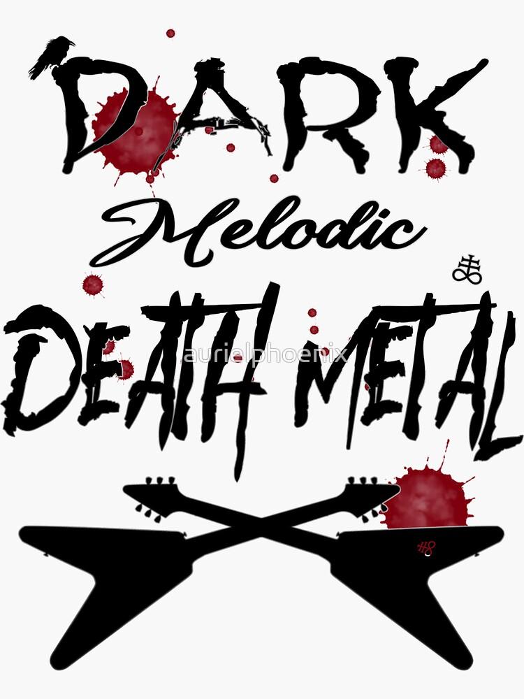 Black Dark Melodic Death Metal Guitars by aurielphoenix