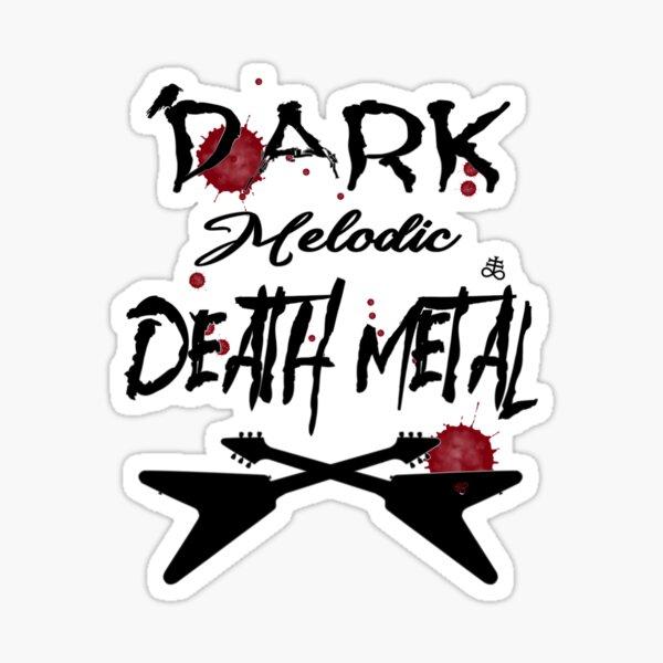 Black Dark Melodic Death Metal Guitars Sticker