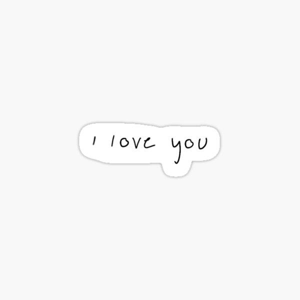 """""""Te amo"""" en letra bils Pegatina"""