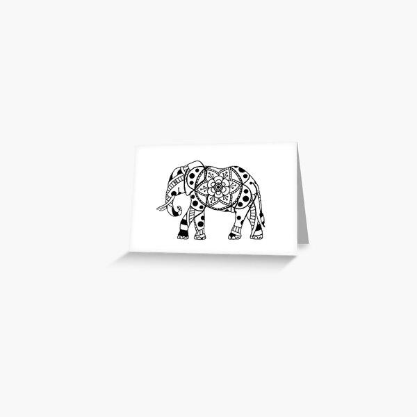 Elephant Mandala Greeting Card
