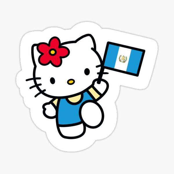 Guatemala Kitty Sticker