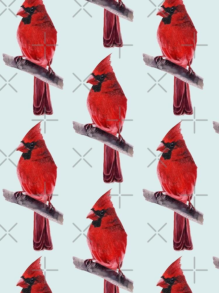 Cardinal - bird painting by EmilyBickell
