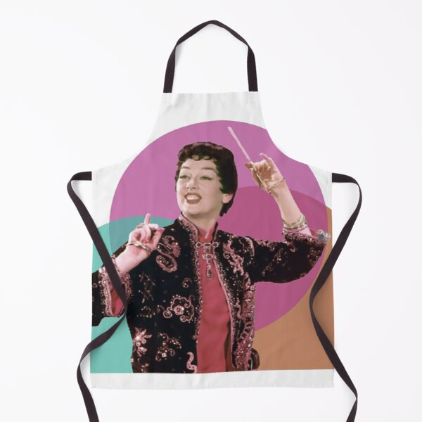 Rosalind Russell as Auntie Mame - Teal, Magenta, Orange Remix Apron