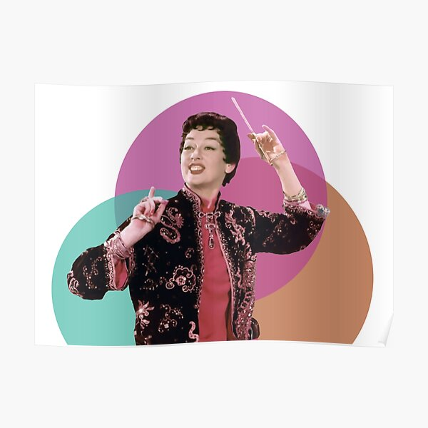 Rosalind Russell as Auntie Mame - Teal, Magenta, Orange Remix Poster