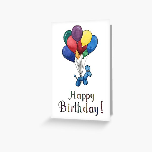 Balloon Animal Birthday Balloons! Greeting Card