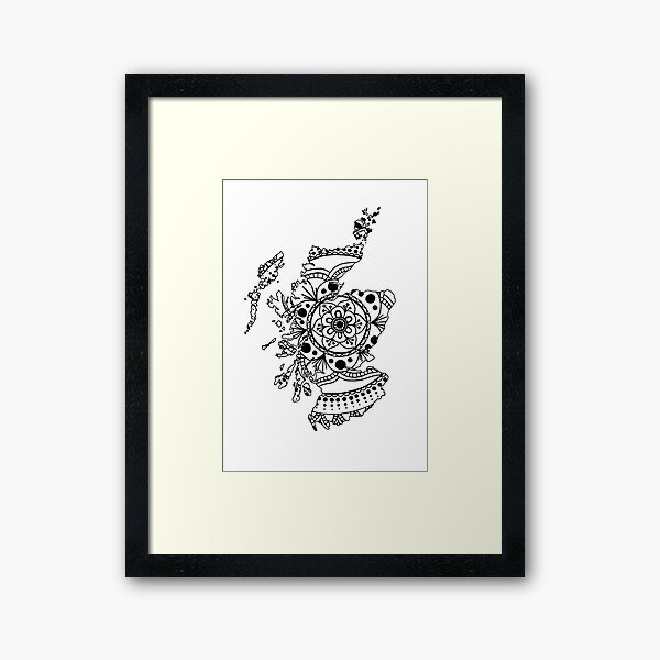 Scotland Mandala Framed Art Print