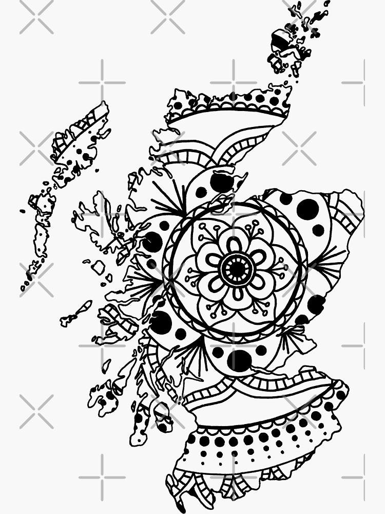 Scotland Mandala by NatSmithDesigns
