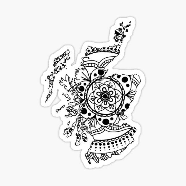 Scotland Mandala Sticker
