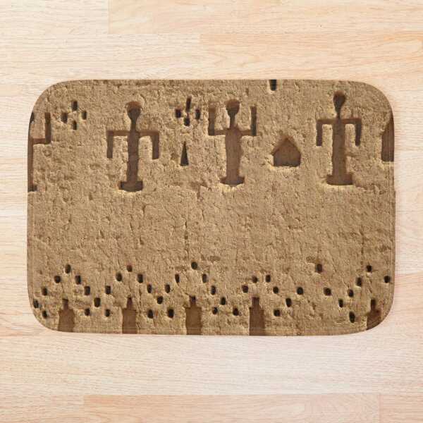 African Art Carvings Decorated Wall Bath Mat