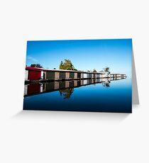 Muskoka Boathouses Greeting Card