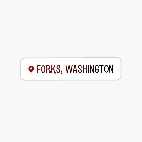 Forks, Washington Location Sticker Sticker