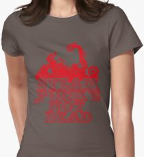 steampunk's not dead (red) Womens Fitted T-Shirt