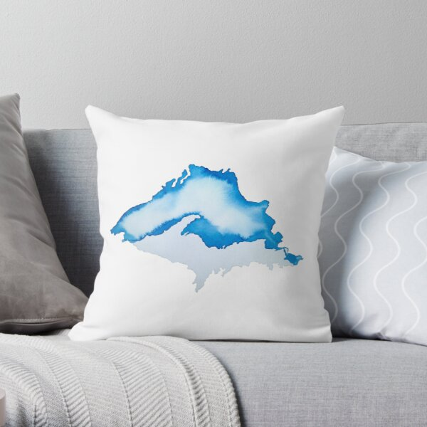 The Most Superior of all Lakes Throw Pillow