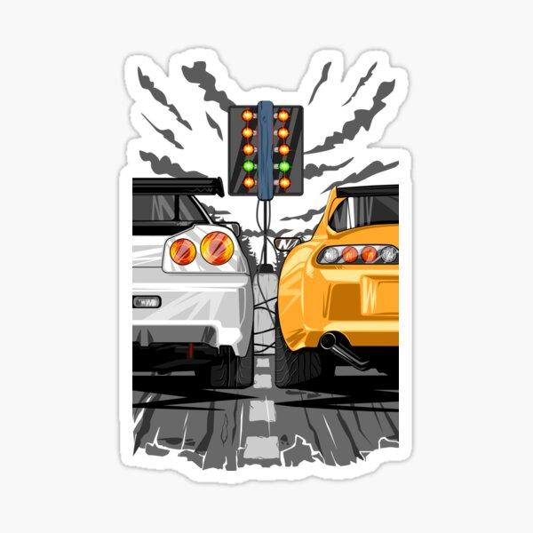 Toyota Supra vs Nissan Skyline Sticker