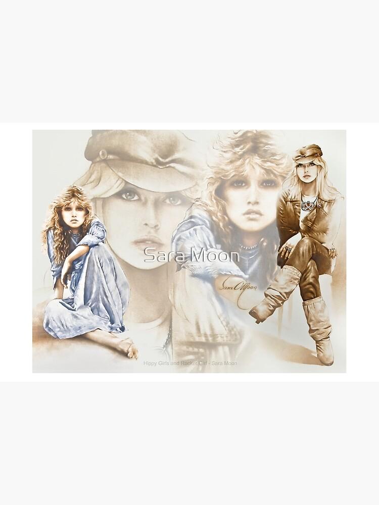 Hippy Girl & Rocker Girl Composite by sara-moon